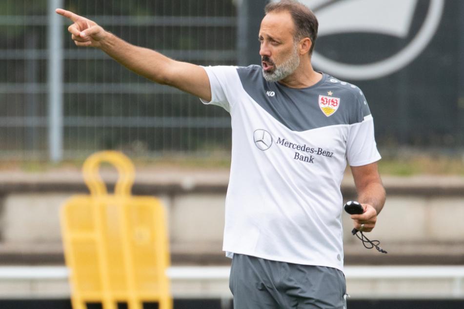 VfB-Cheftrainer Pellegrino Matarazzo (42) prangerte seiner Mannschaft fehlende Zielstrebigkeit und Präzision an.