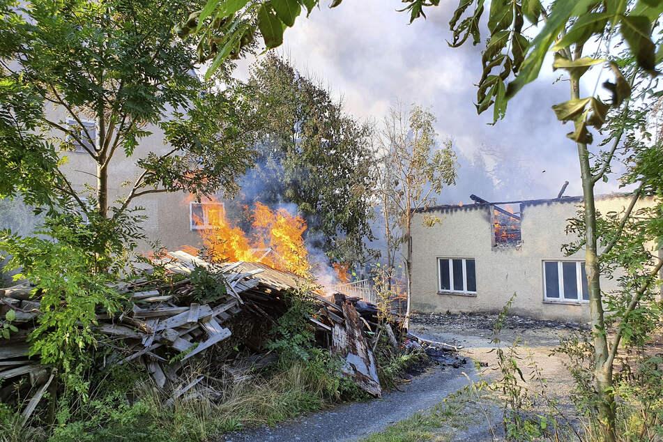 Die Dreiseitenhof brannte komplett aus.