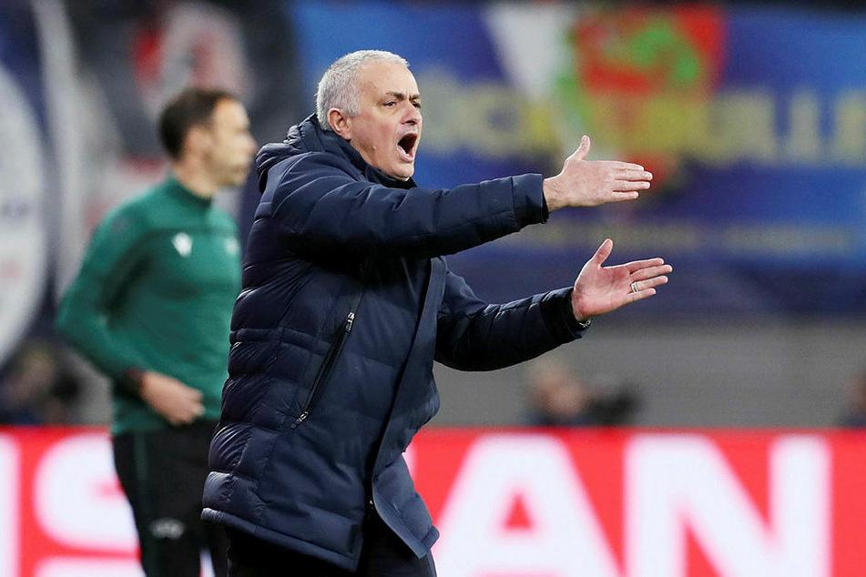 Musste seine Mannschaft immer wieder ankurbeln: Tottenham-Trainer José Mourinho.