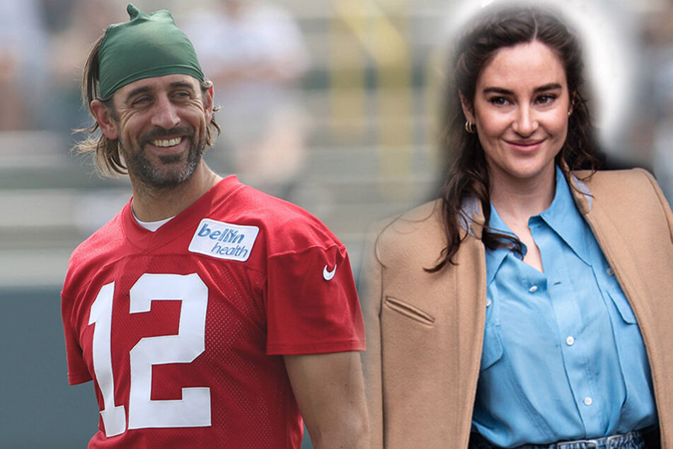 Aaron Rodgers (l.) and Shailene Woodley (r.) reportedly started dating in 2020, and confirmed their engagement in February 2021.