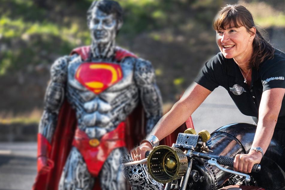 Superman für Sachsens Geopark: Steffi macht aus Schrott Kunst!