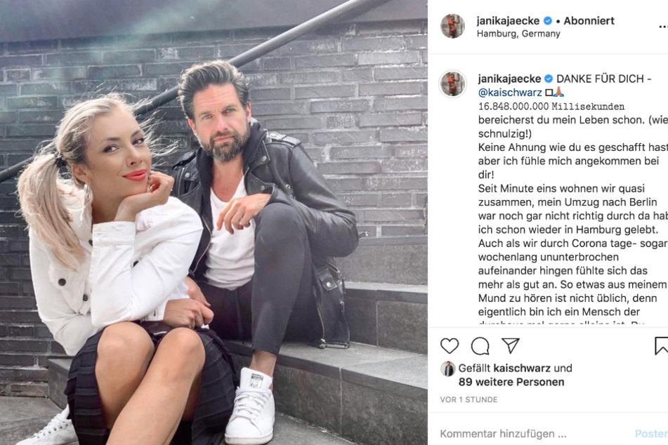 Janika Jäcke (31) veröffentlichte die Liebeserklärung auf Instagram.