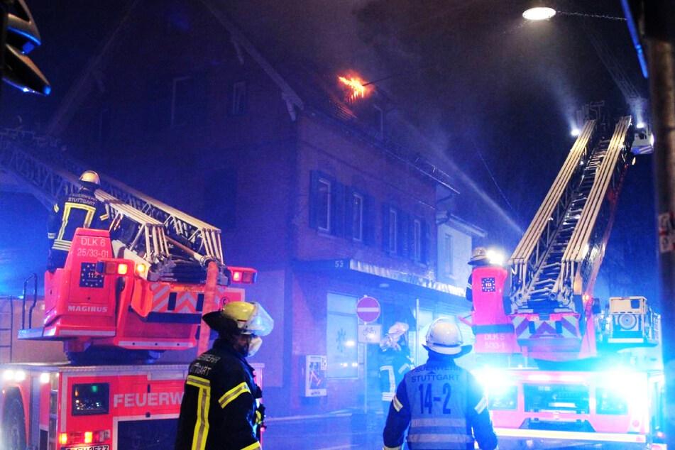 Brandnacht in Stuttgart: Feuer in Wohnhaus und Textilbetrieb