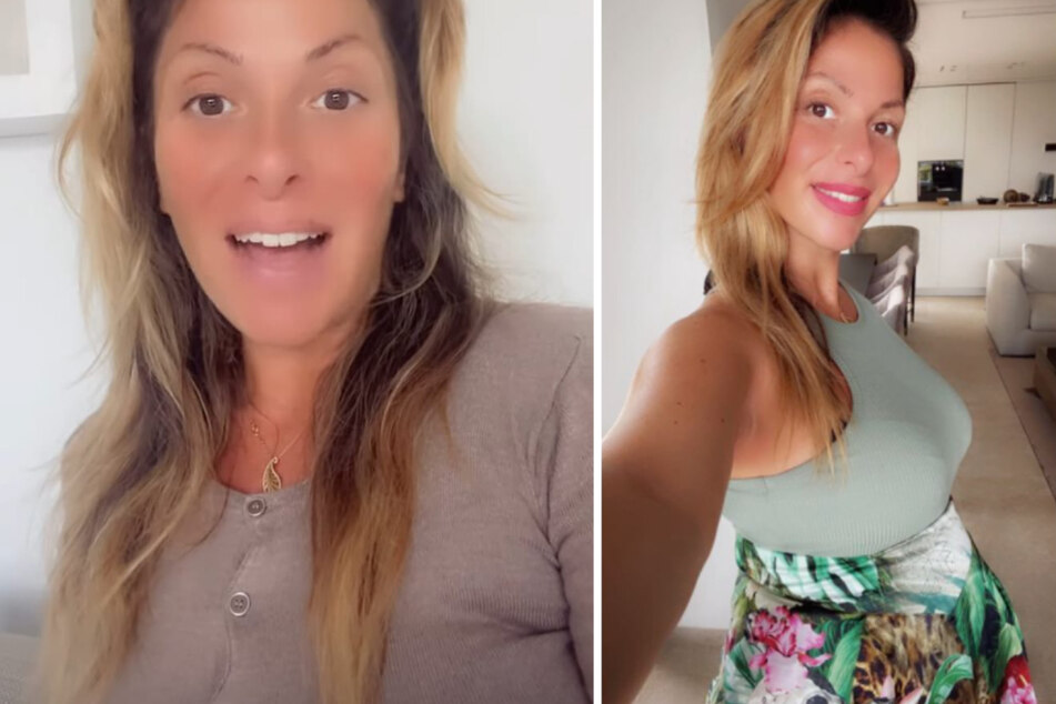 Gülcan Kamps (38) gibt ihren Fans bei Instagram regelmäßig Schwangerschafts-Updates. (Fotomontage)