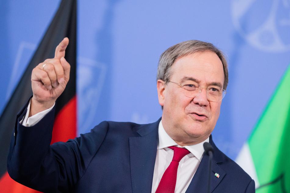 Armin Laschet (CDU) sprach sich gegen eine vorschnelle Entscheidung bei Nord Stream 2 aus.