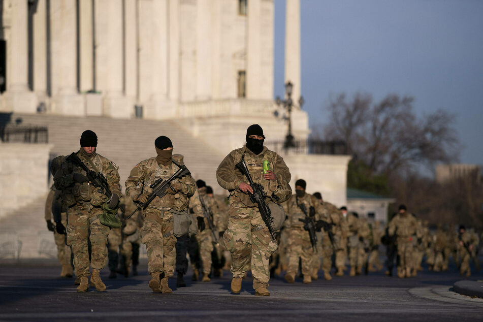 4,900 National Guard troops remain in Washington DC through March 12.
