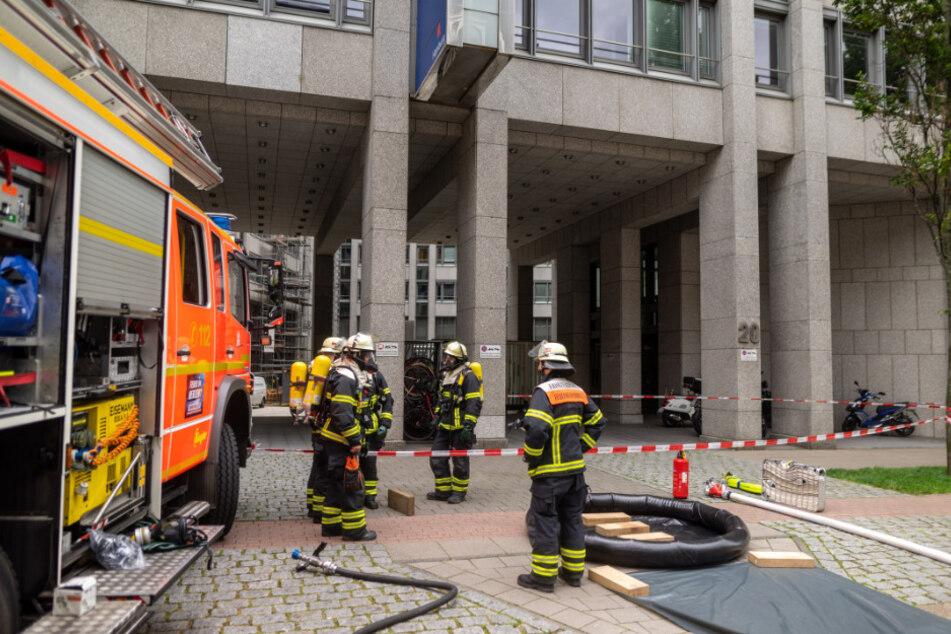 Das Bezirksamt wurde evakuiert.