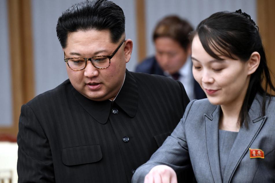 Panmunjom: Kim Jong-un, Machthaber von Nordkorea, und dessen Schwester Kim Yo Jong (Archivbild).