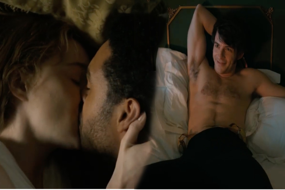 The TV series gained popularity among fans for its steamy sex scenes (collage).