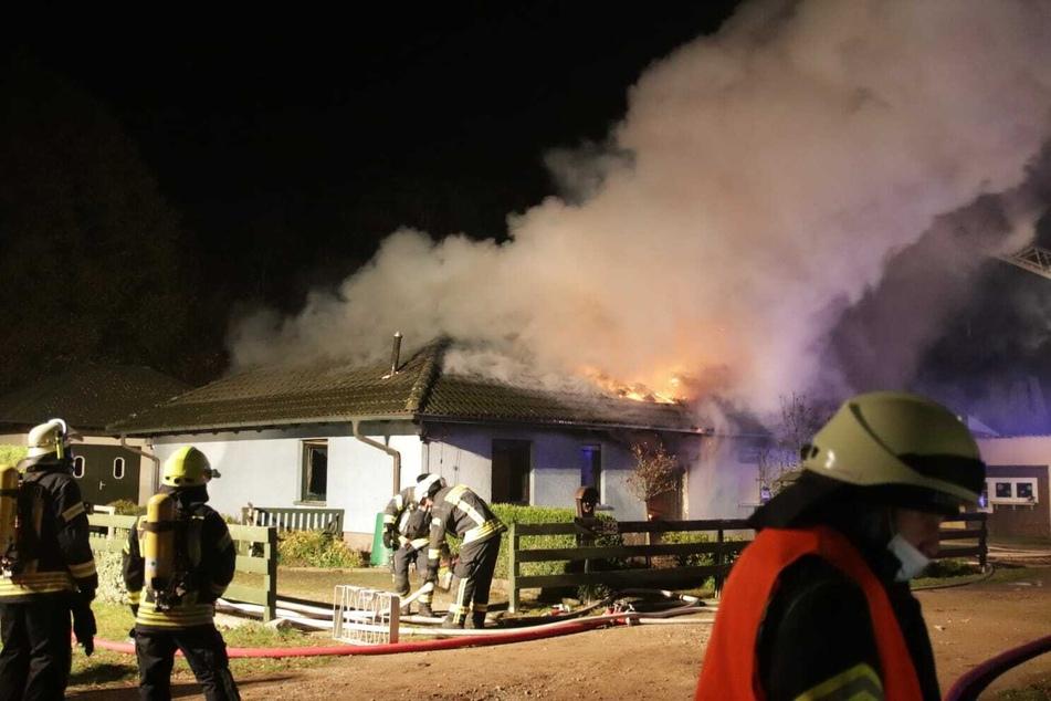 Bei einem Brand im brandenburgischen Werneuchen sind zwei Personen ums Leben gekommen.
