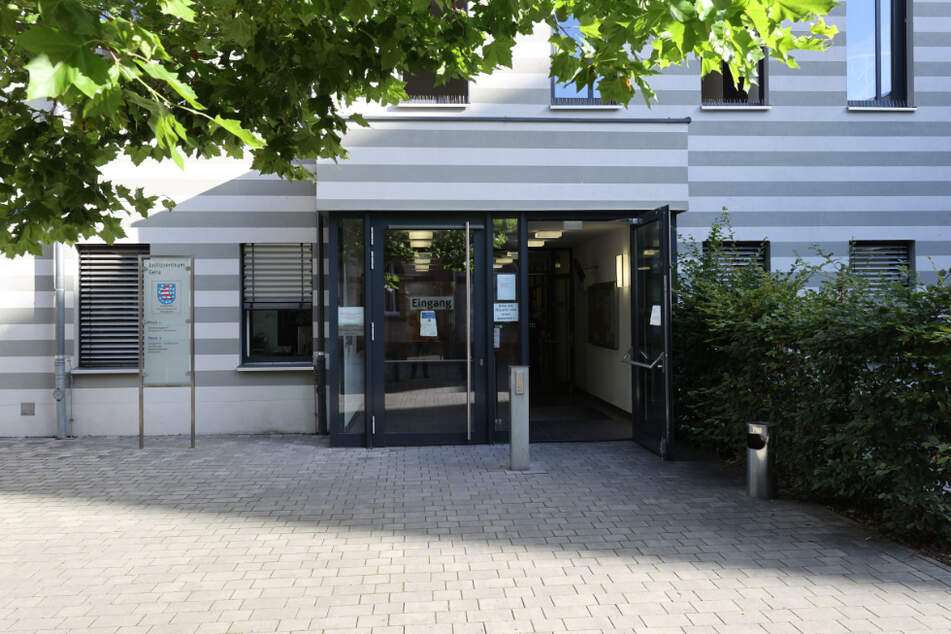 Der Eingang zum Justizzentrum Gera.