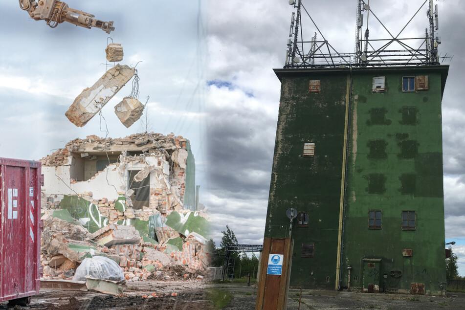 Das grüne Wahrzeichen von Gompitz: Hier kommt das Ende für den alten SED-Turm