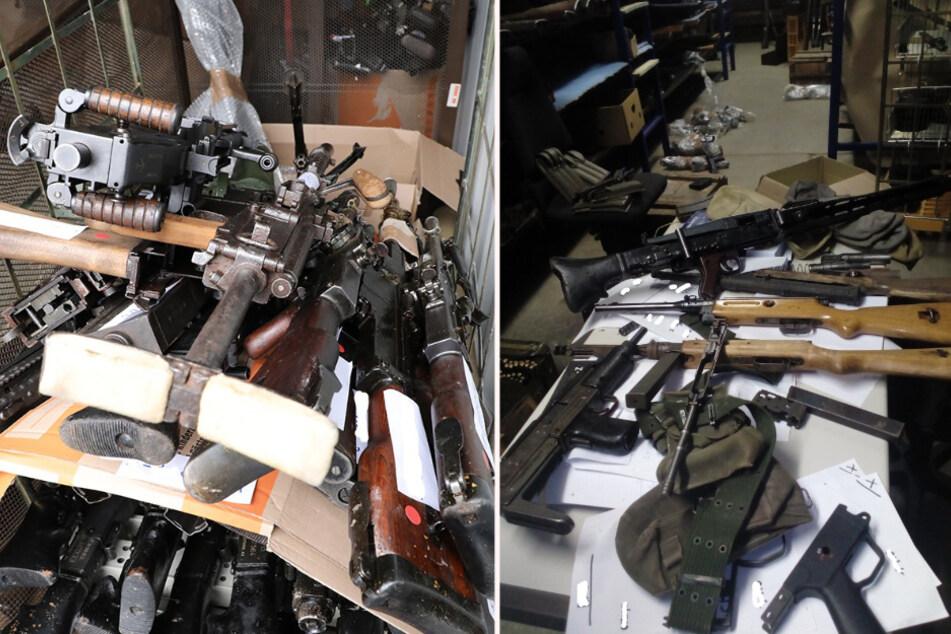 Der Abtransport der Waffen dauerte mehrere Tage.