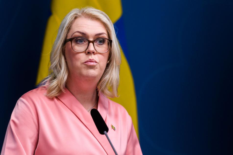 Schwedens Sozialministerin Lena Hallengren.