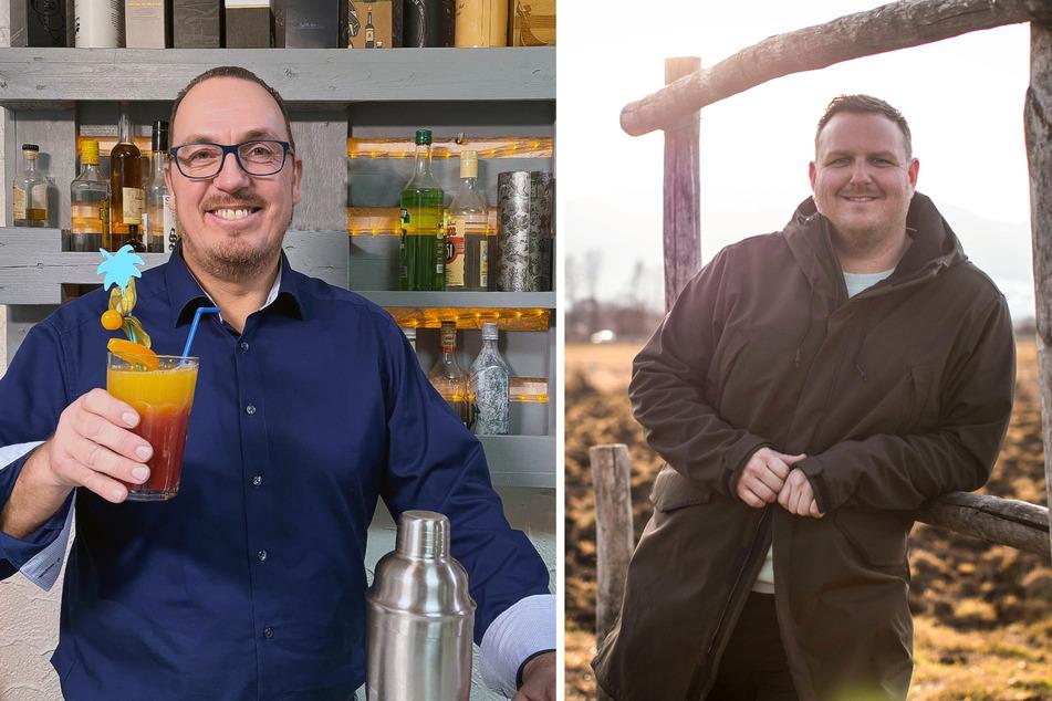 Marc (46, l.) aus der Pfalz und Gerhard (37) aus Oberbayern.