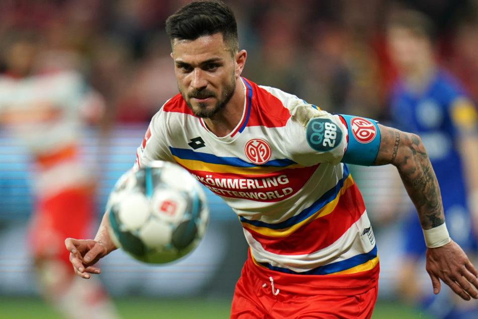 Mannschaftskapitän Danny Latza vom FSV Mainz 05 spielt am kommenden Samstag nur vor ganz kleinem Live-Publikum.