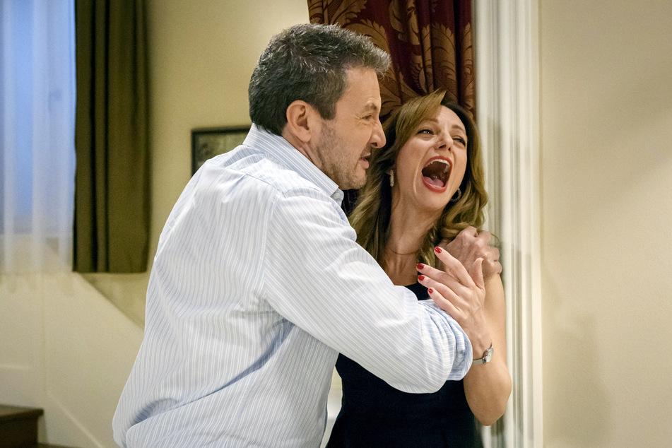 Sturm der Liebe: Christoph rastet aus, denn schon wieder scheint Ariane straffrei davonzukommen.