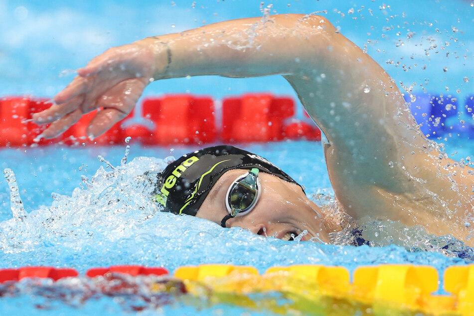 Sarah Köhler (27) aus Deutschland in Aktion. Die 27-Jährige belegte über 800 Meter Freistil den siebten Platz.