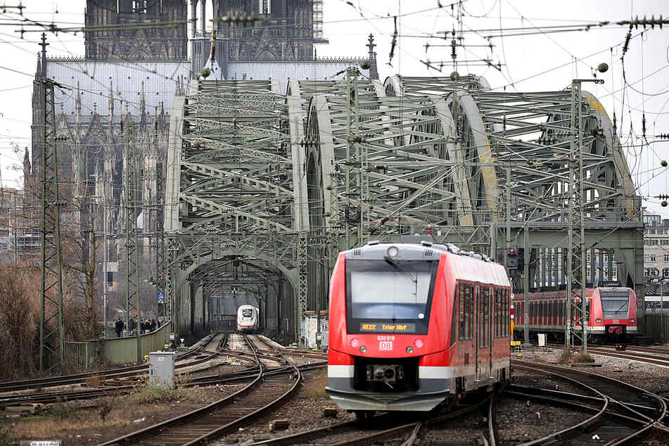 Ein Nahverkehrszug in Köln.