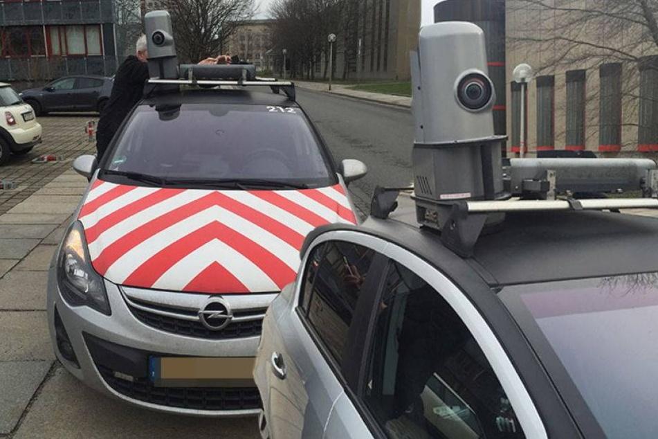Warum macht dieses Auto Fotos in Dresden?