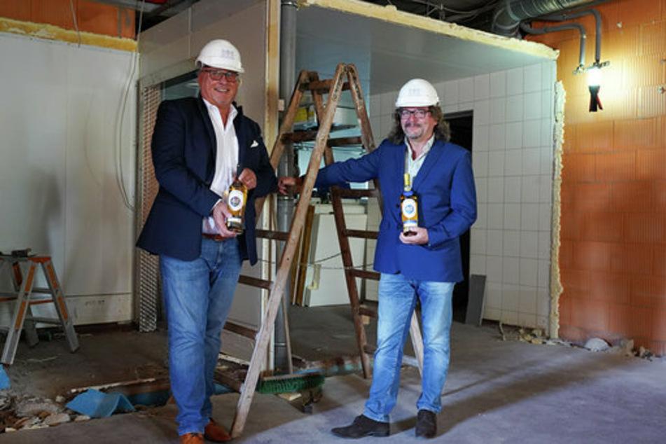 Auf 1200 Quadratmetern wird der Whisky bald hergestellt werden.