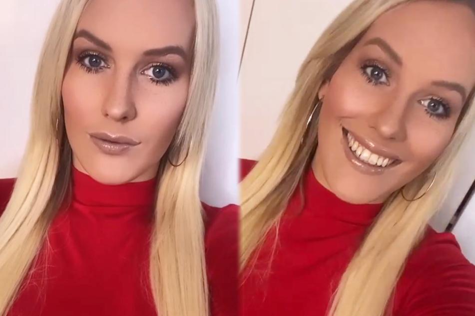 Die Montage zeigt zwei Screenshots aus den Instagram-Storys der Miss-Germany-Kandidatin Josimelonie (26).