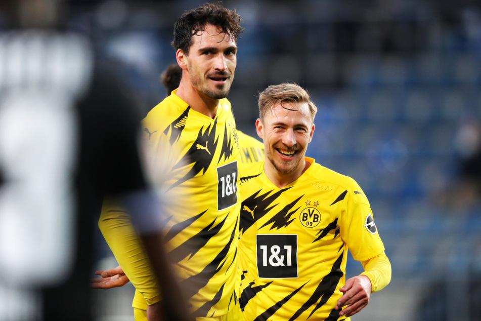 Felix Passlack (22, r.) ist im Bundesliga-Team momentan hintendran. Für die U23 netzte das Eigengewächs am Samstag zum 3:0 ein.