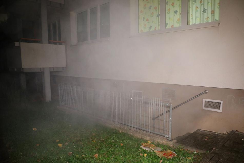 Der Keller eines Wohnhochhauses brannte in der Prohliser Allee 5.
