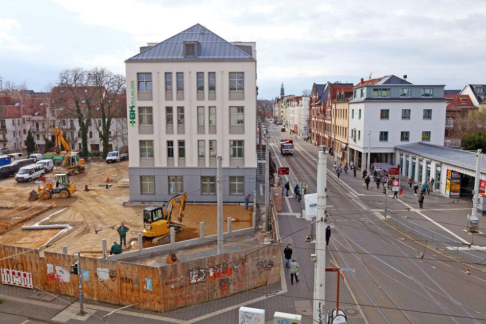 Ein Haus für neun Ärzte: Das Medizinische Versorgungszentrum am Zwickauer Neumarkt soll im Mai eröffnen.