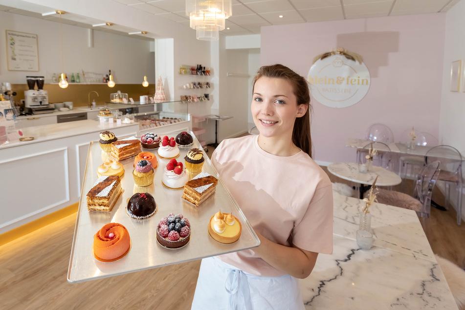"""Caroline Lange (30) bietet in ihrer Pâtisserie """"klein & fein"""" in Plauen Pralinen, Macarons, Tartes, Baisers und Kuchen an."""