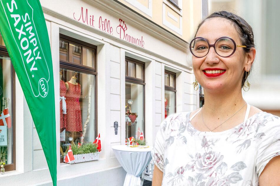 """Margret Schneider-Lange (40) führt die Boutique """"Mit lille Danmark"""" (Bildmontage)."""