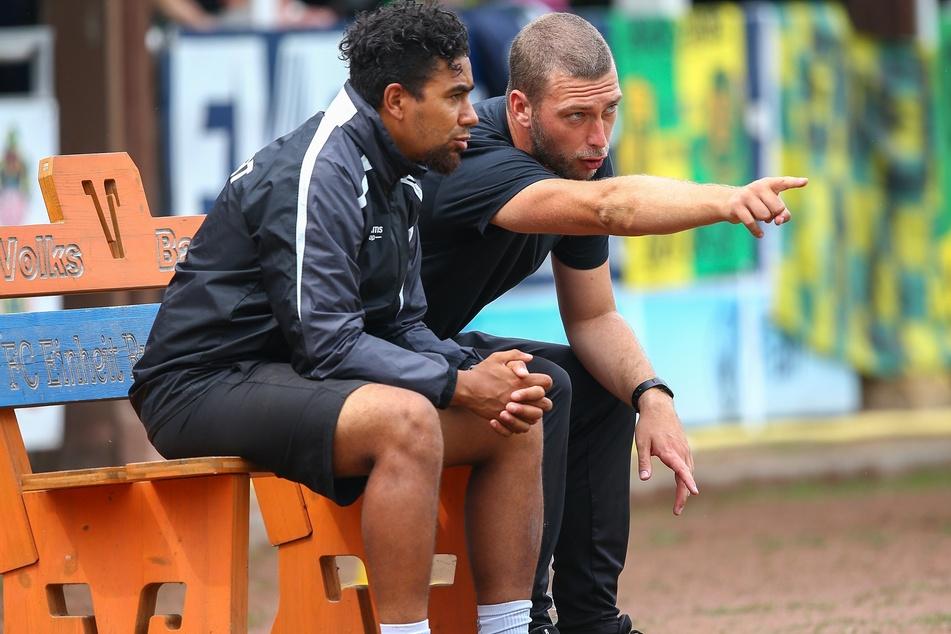 Manuel Rost (31, l.) wird am Samstag anstelle von Ex-Trainer Robin Krüger (31, r.) auf der Bank als Cheftrainer sitzen.