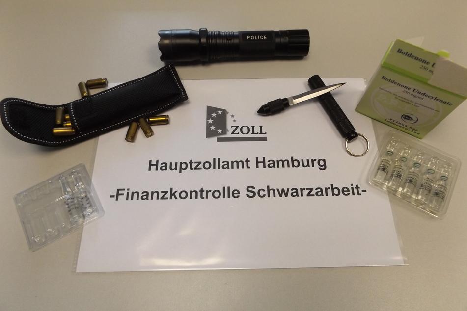 Der Hamburger Zoll hat in den Räumlichkeiten eines Sicherheitsdienstleisters Waffen, Munition und Dopingmittel gefunden.