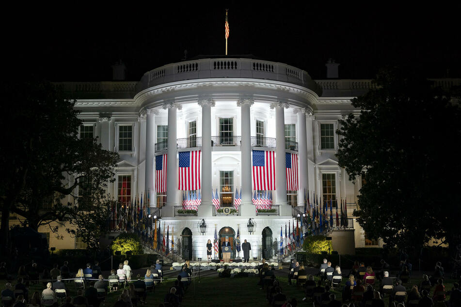 The White House staged a lavish confirmation ceremony on Monday night.