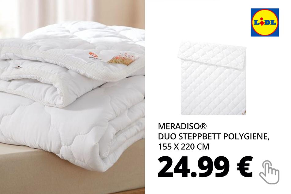 MERADISO® Duo Steppbett Polygiene, 155 x 220 cm