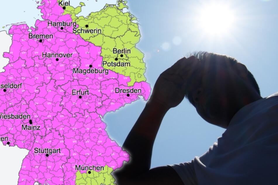 Raus aus der Sonne! Wetterdienst warnt vor heftiger UV-Strahlung