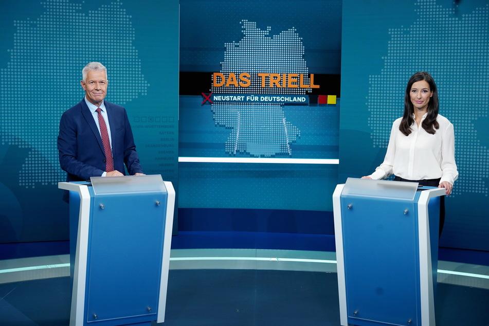 Am Sonntagabend lädt RTL zum Triell: Hier werden Laschet, Baerbock und Scholz gegeneinander antreten.