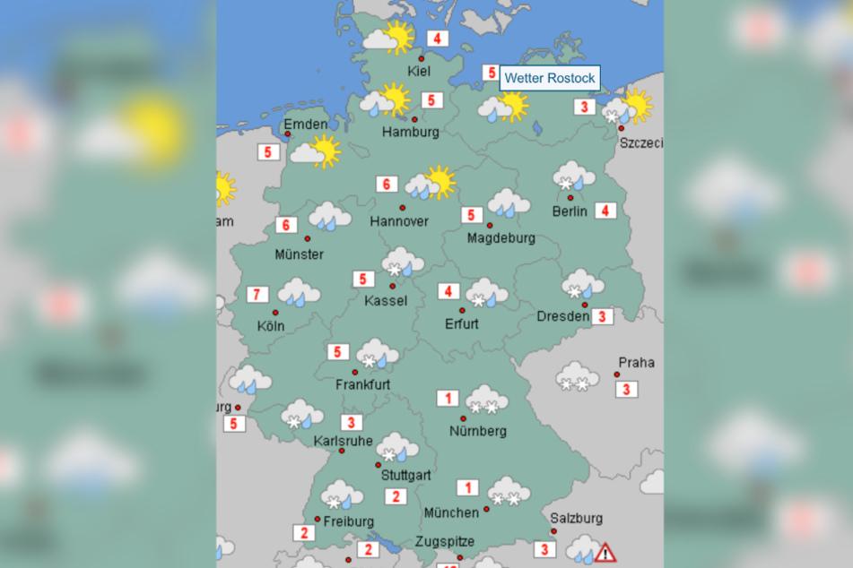 In Deutschland wird das Wetter größtenteils ungemütlich.
