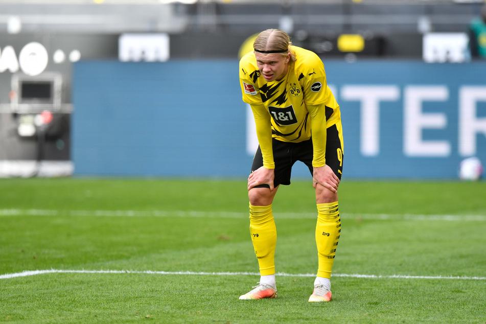 Borussia Dortmunds Erling Haaland war nach der Niederlage gegen Eintracht Frankfurt sichtlich bedient.