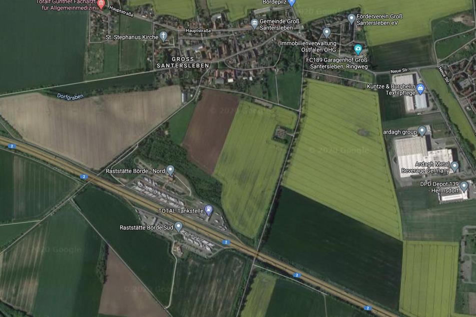 Der Vorfall ereignete sich laut Polizei in der Nähe des Rasthofs Börde bei Groß Santersleben.