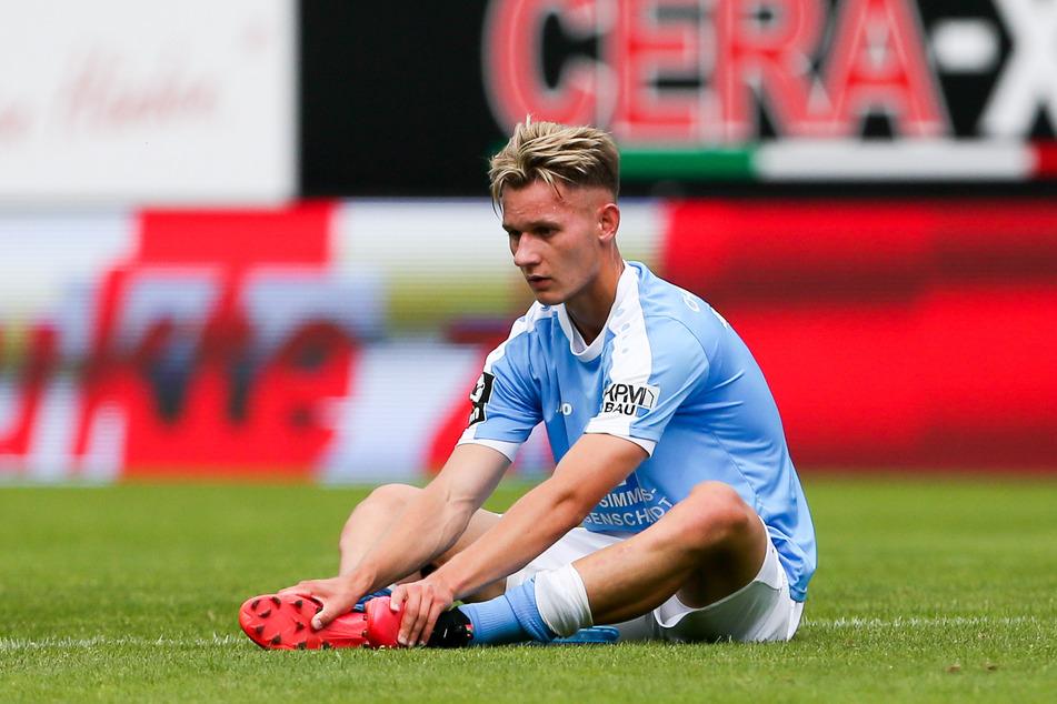 Erik Tallig spielte in der abgelaufenen Saison 29-mal für Chemnitz, schoss sechs Tore. Am Sonnabend stieg er mit dem CFC in die Regionalliga ab.