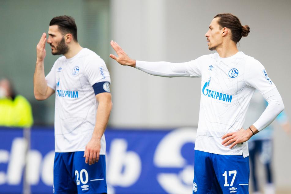 Sead Kolasinac (27, l.) und Benjamin Stambouli (30) konnten dem FC Schalke 04 in Freiburg keinerlei Stabilität verleihen.