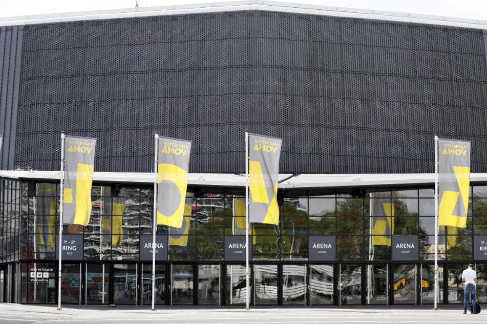 """Außenansicht von """"Ahoy"""", der Veranstaltungshalle, die für den Eurovision Song Contest 2020 geplant war."""