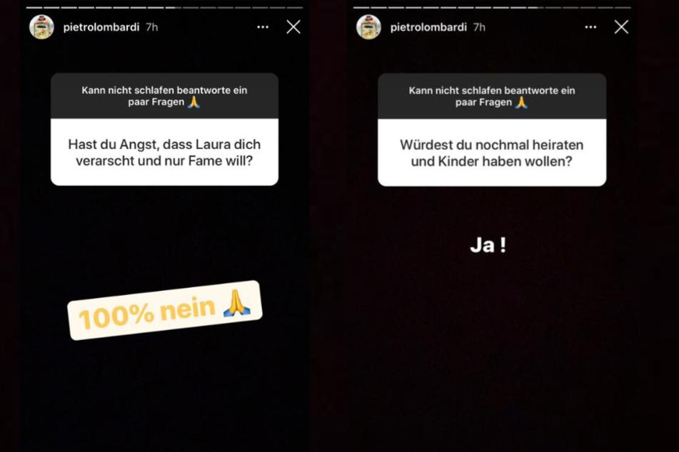 Pietro Lombardi (28) verriet seinen Fans bei Instagram, dass er sich weitere Kinder und auch eine erneute Hochzeit wünscht. Vielleicht schon bald mit Freundin Laura Maria Rypa (24)?