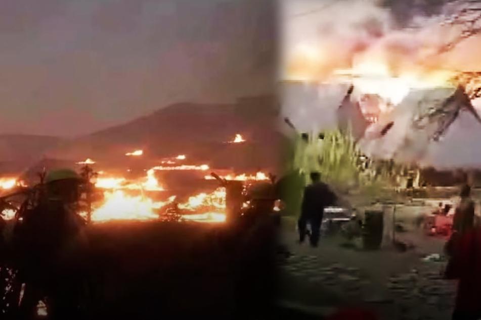 Mehr als 100 Häuser abgebrannt! Feuer zerstört nahezu gesamtes historisches Dorf