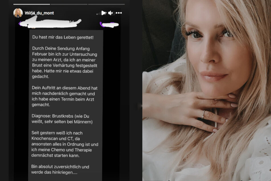 """""""Hast mir das Leben gerettet"""": Mirja du Mont teilt emotionale Nachricht"""