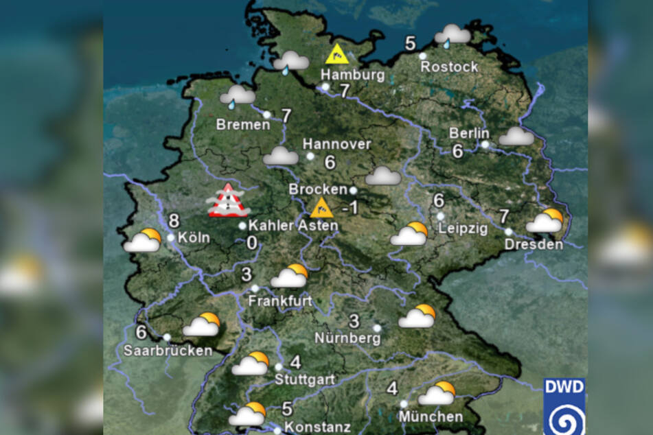 Die kommenden Tage wird es wechselhaft und kühl in Deutschland.