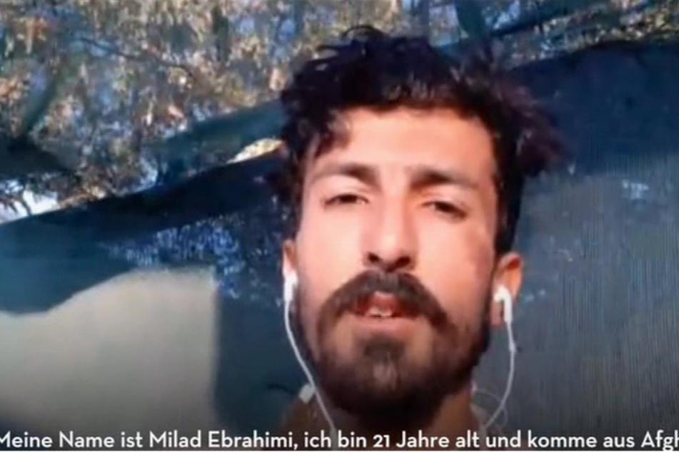 Milad Ebrahimi (21) berichtete von den schrecklichen Zuständen in Moria.