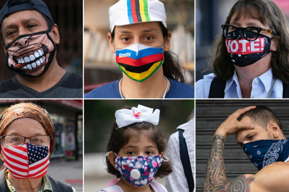 New Yorker mit ihren Mundschutzmasken. Seit dem Beginn der Pandemie haben sich in den USA mehr als 11 Millionen Menschen mit dem Coronavirus infiziert.