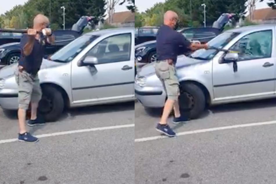 Hund bei Hitze im Auto gelassen: Passant greift zur Axt